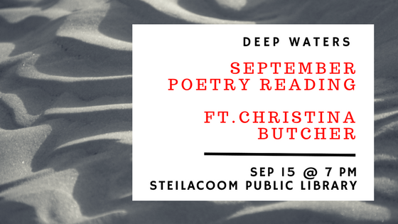 Christina Butcher at Deep Waters' Monthly Reading & Open Mic