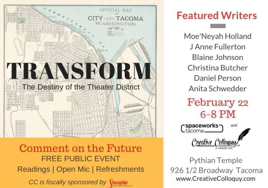 """Transform"" Community Event & Readings"